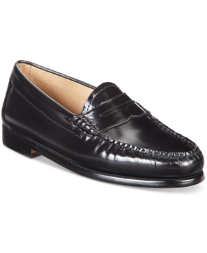 G.h. Bass & Co. Women's Weejuns Whitney Penny Loafers Women's Shoes In Black