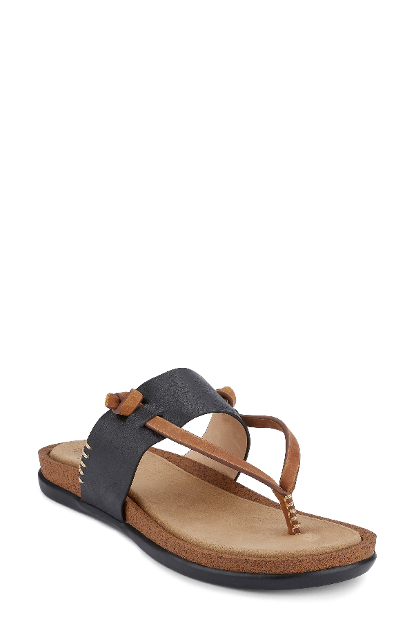 G.h. Bass & Co. Shannon Sandal In Black Leather