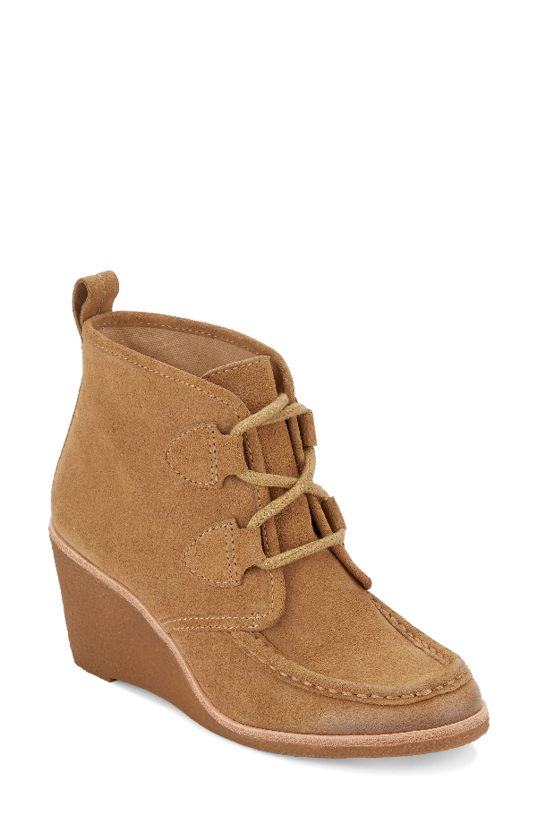G.h. Bass & Co. Rosa Wedge Bootie In Camel Suede