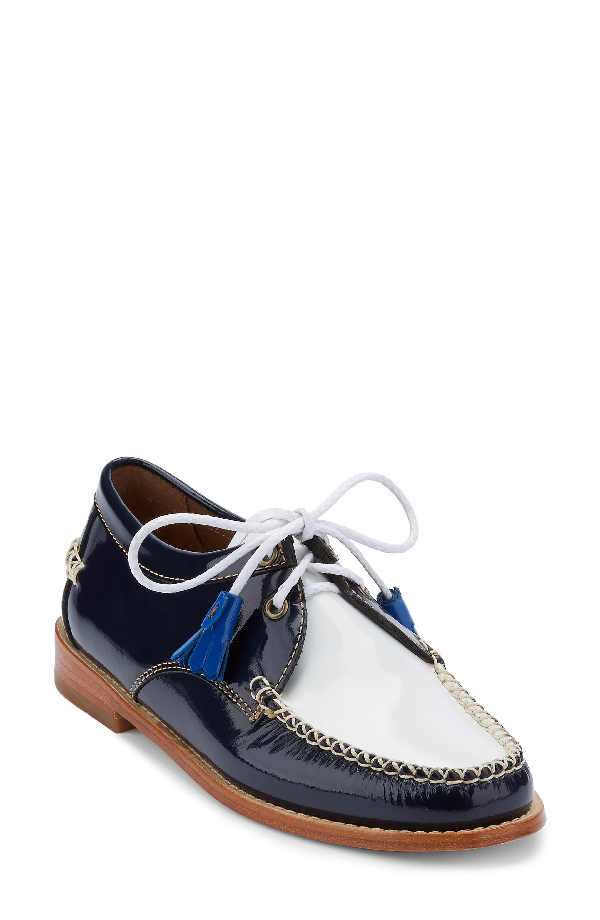 G.h. Bass & Co. 'winnie' Leather Oxford In Navy/ White Leather