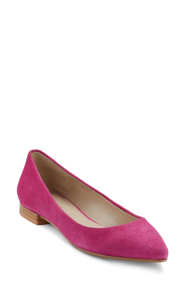 G.h. Bass & Co. Kayla Pointy Toe Flat In Orchid Suede
