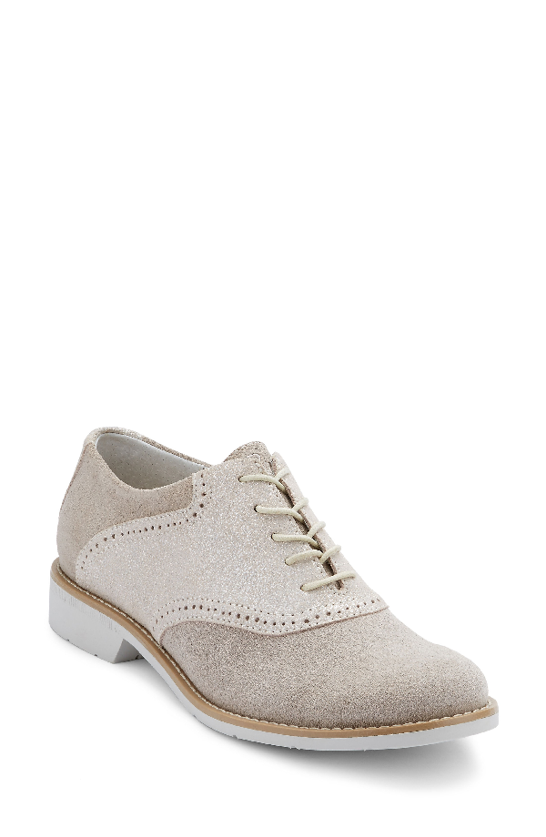 G.h. Bass & Co. G.h. Bass And Co. Dora Lace-up Oxford In Soft Grey/ Silver Suede