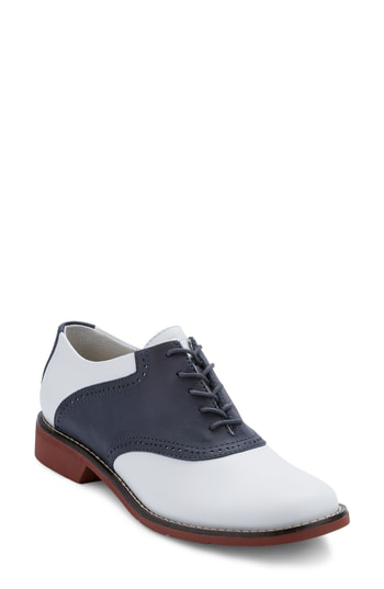 G.h. Bass & Co. G.h. Bass And Co. Dora Lace-up Oxford In Navy/ White Leather