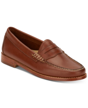 G.h. Bass & Co. Women's Weejuns Whitney Penny Loafers Women's Shoes In Cognac