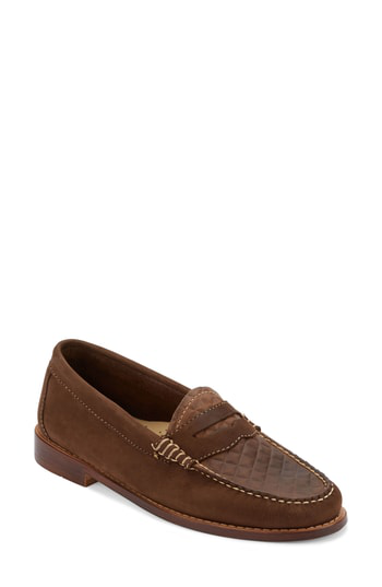 G.h. Bass & Co. 'whitney' Loafer In Cafe Suede