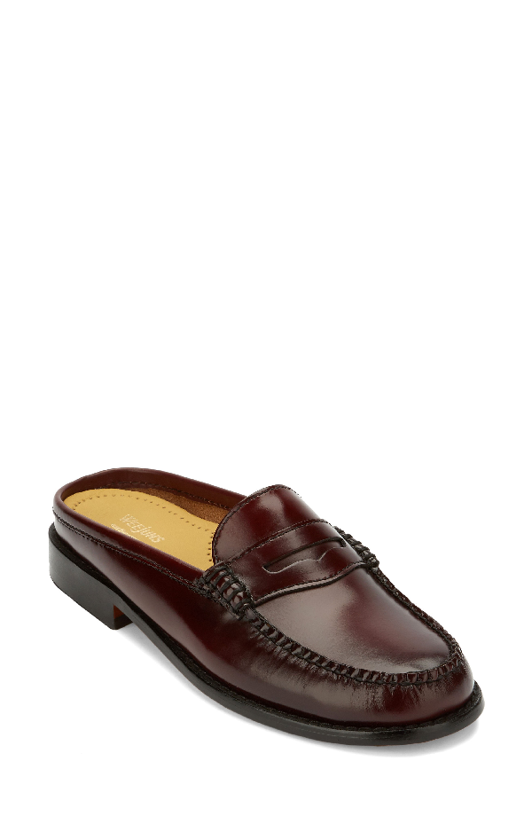 G.h. Bass & Co. Women's Wynn Mules Women's Shoes In Cordovan Leather