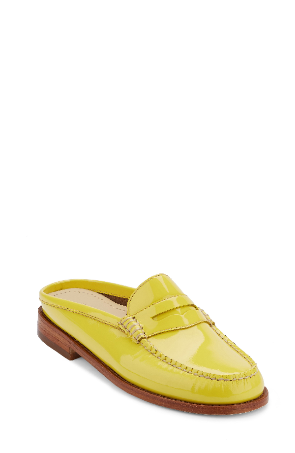 G.h. Bass & Co. Wynn Loafer Mule In Lemon Leather