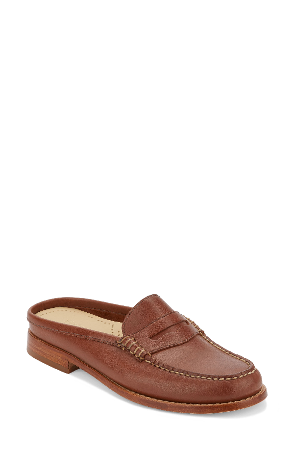 G.h. Bass & Co. Wynn Loafer Mule In Cognac Leather
