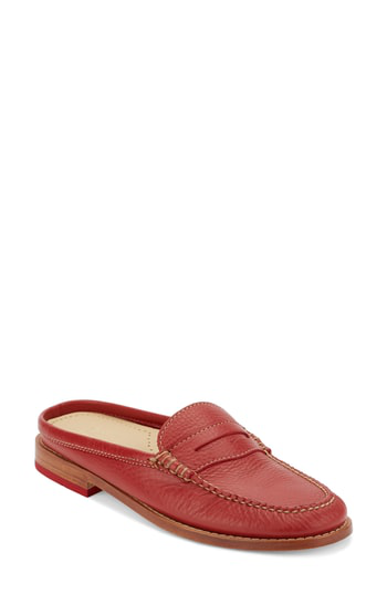G.h. Bass & Co. Wynn Loafer Mule In Spice Leather