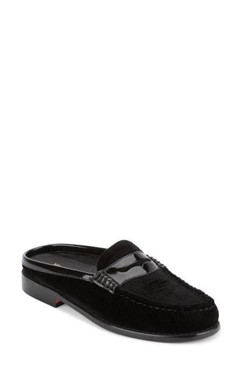 G.h. Bass & Co. Women's Wynn Mules Women's Shoes In Black Velvet