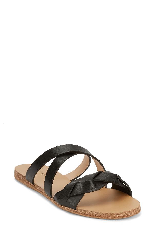 G.h. Bass & Co. Scarlett Slide Sandal In Black Leather