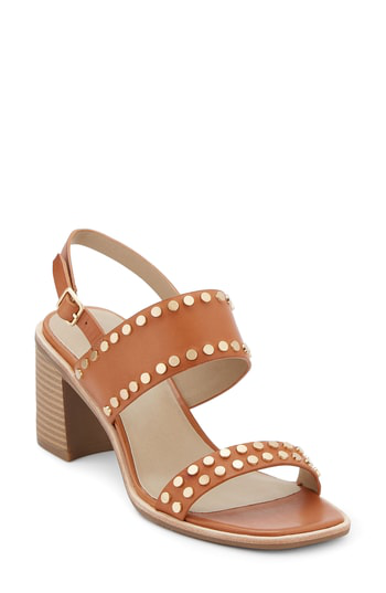 G.h. Bass & Co. Rachel Block Heel Sandal In Cognac Leather