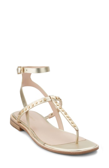 G.h. Bass & Co. Michelle Sandal In Gold Leather
