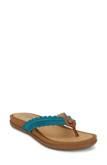 G.h. Bass & Co. G.h. Bass And Co. Samantha Thong Sandal In Teal Leather