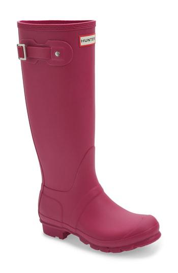 Hunter 'original Tall' Rain Boot In Dark Ion Pink