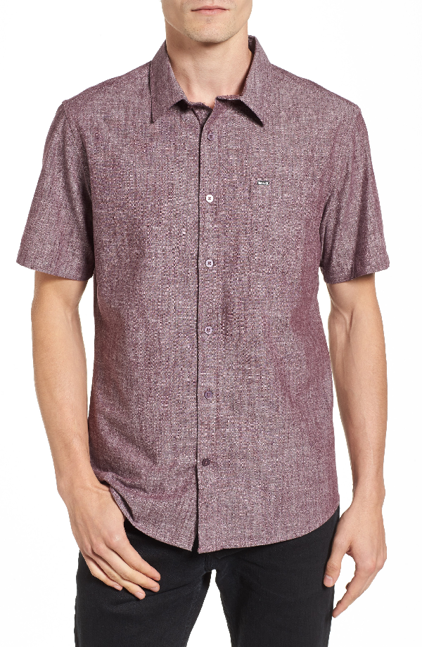 Hurley Men's One And Only Cotton Shirt In Mahogany