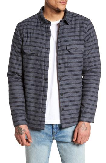 Hurley Men's Dispatch Stripe Shirt Jacket In Black
