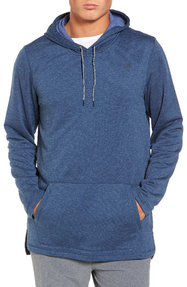 Hurley Dri-fit Solar Hoodie In Squadron Blue