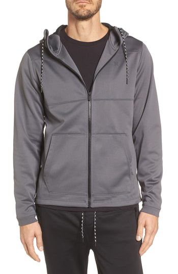 Hurley Therma Protect Zip Hoodie In Dark Grey