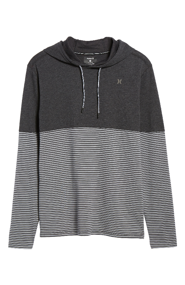 Hurley Recess Dry Hoodie In Black Heather