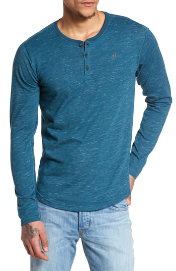 Hurley San Clemente Dri-fit Henley In Space Blue