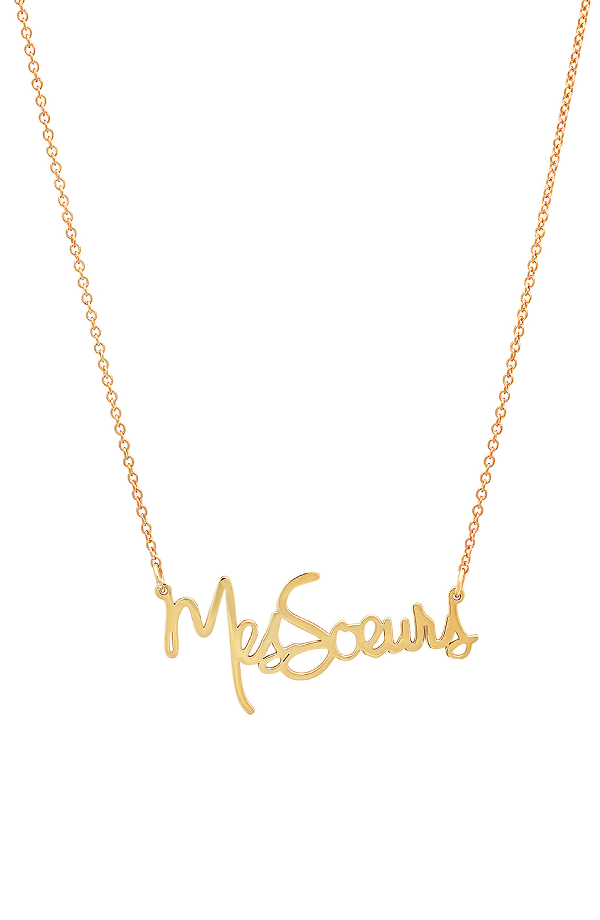 Iconery X Striiike Salon Mes Soeurs Pendant Necklace In Yellow Gold