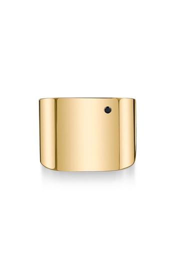 Iconery X Rashida Jones Square Cigar Band Ring In Yellow Gold