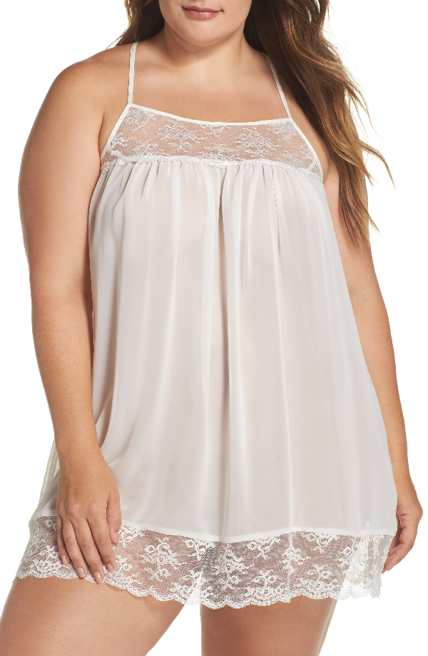 In Bloom By Jonquil Chiffon Chemise In Ivory