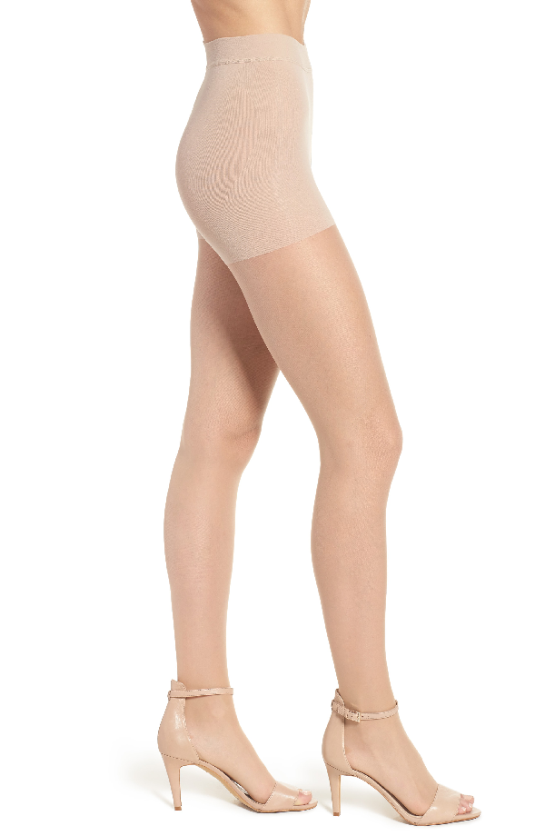 Item M6 Invisible Open Toe Tights In Powder