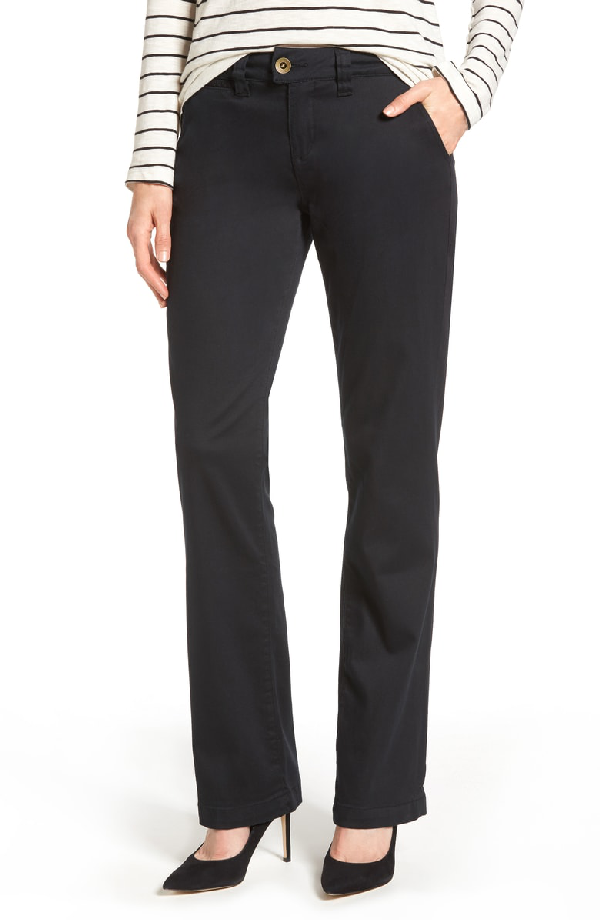 Jag Jeans Standard Stretch Twill Trousers In Black