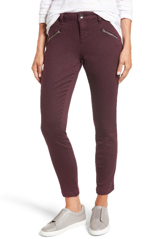 Jag Jeans Ryan Knit Skinny Jeans In Plum Noir