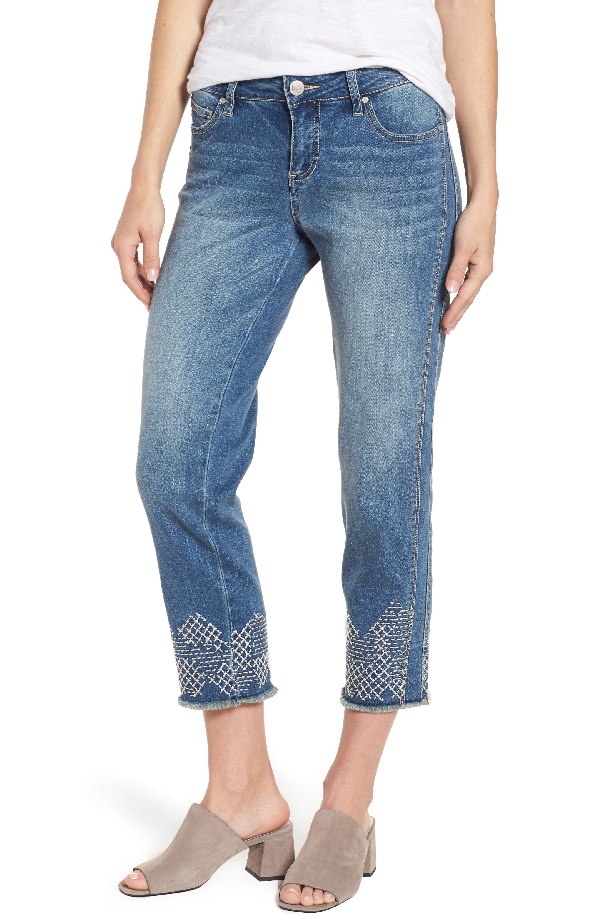 Jag Jeans Long Straight Ankle Jeans In Horizon Blue