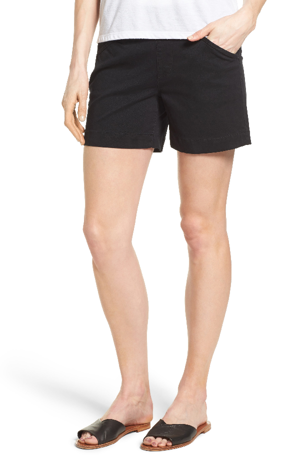 Jag Jeans Ainsley Pull-on Stretch Twill Shorts In Black