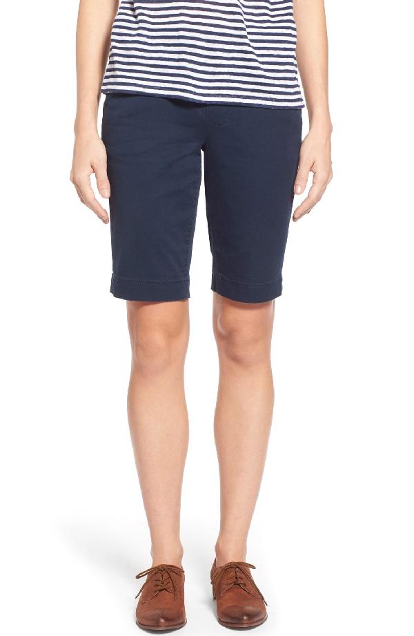 Jag Jeans 'ainsley' Slim Bermuda Shorts In Nautical Navy