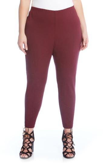 Karen Kane Piper High-waist Pants In Burgundy