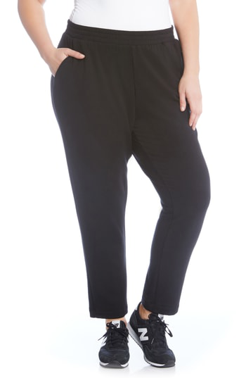Karen Kane Pull-on Sweatpants In Black