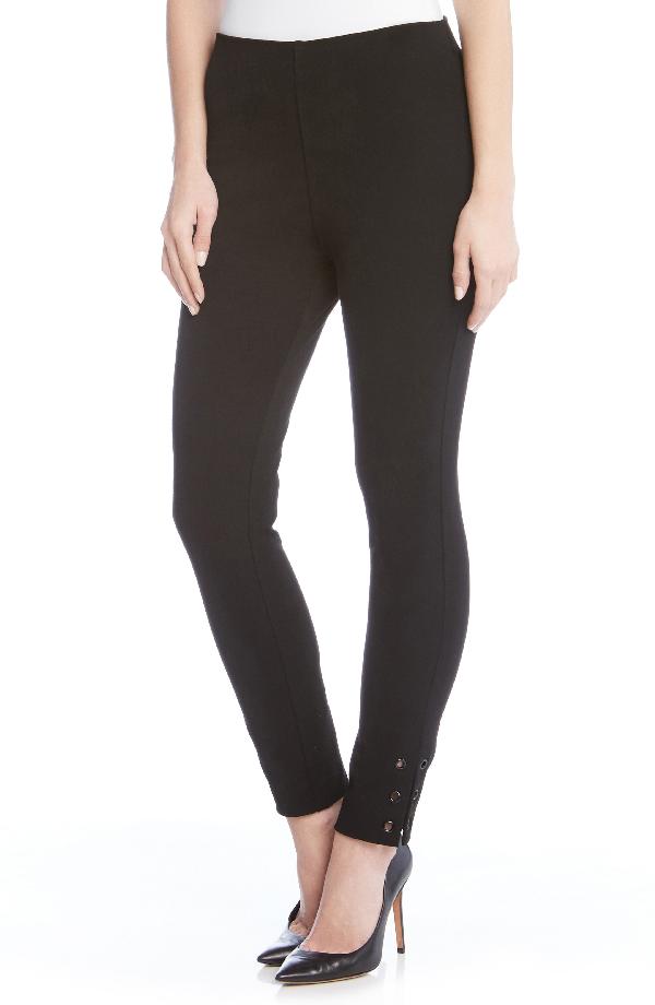 Karen Kane Piper Grommet Detail Skinny Pants In Black