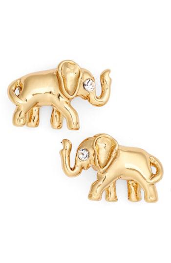 Kate Spade Elephant Stud Earrings In Gold