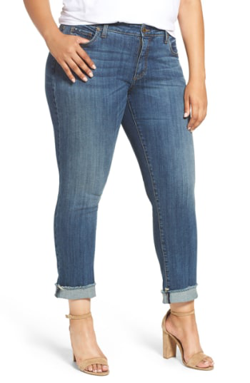 Kut From The Kloth Stretch Roll Cuff Ankle Jeans In Valued
