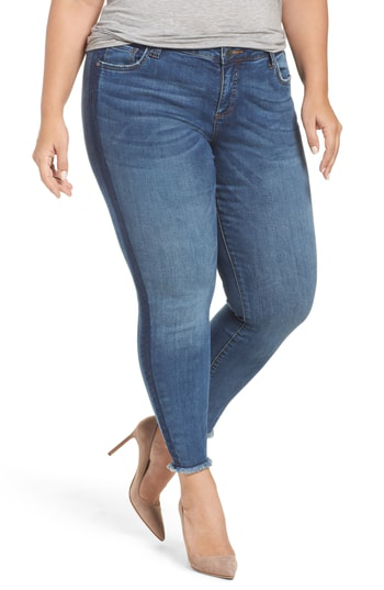 Kut From The Kloth Connie Frayed Skinny Ankle Jeans In Prolific