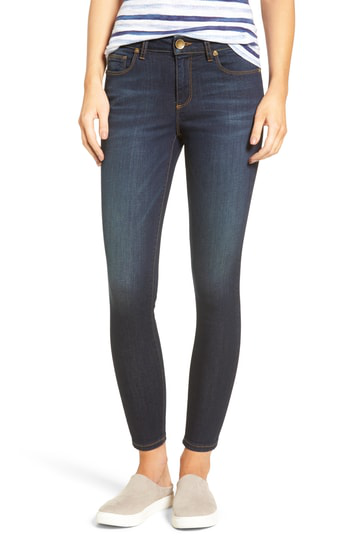 Kut From The Kloth Kurvy Ankle Skinny Jeans In Blinding