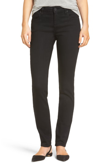 Kut From The Kloth Diana Stretch Skinny Jeans In Black