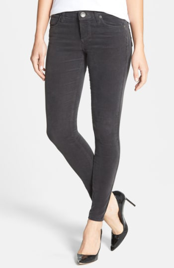 Kut From The Kloth Diana Stretch Corduroy Skinny Pants In Annecy Charcoal