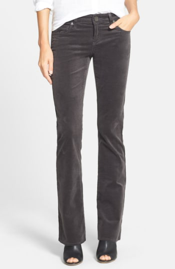 Kut From The Kloth Baby Bootcut Corduroy Jeans In Annecy Charcoal