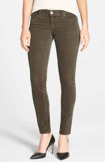 Kut From The Kloth Diana Stretch Corduroy Skinny Pants In Dark Olive