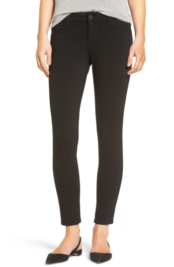 Kut From The Kloth Donna Ponte Knit Skinny Jeans In Black