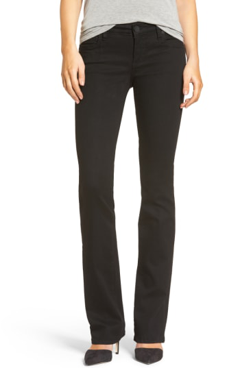 Kut From The Kloth Natalie Stretch Bootleg Jeans In Black