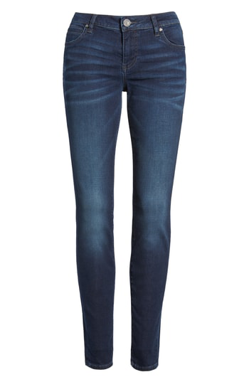 Kut From The Kloth Mia Toothpick Skinny Jeans In Hale/ Dark Stone Base