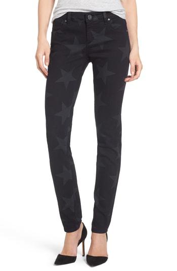 Kut From The Kloth Mia Star Print Skinny Jeans In Trailblazing