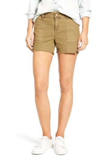 Kut From The Kloth Gidget Cutoff Shorts In Camel